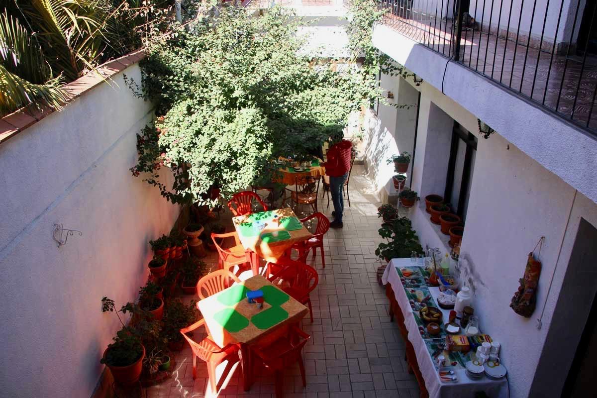 Cour hotel Sucre Bolivie