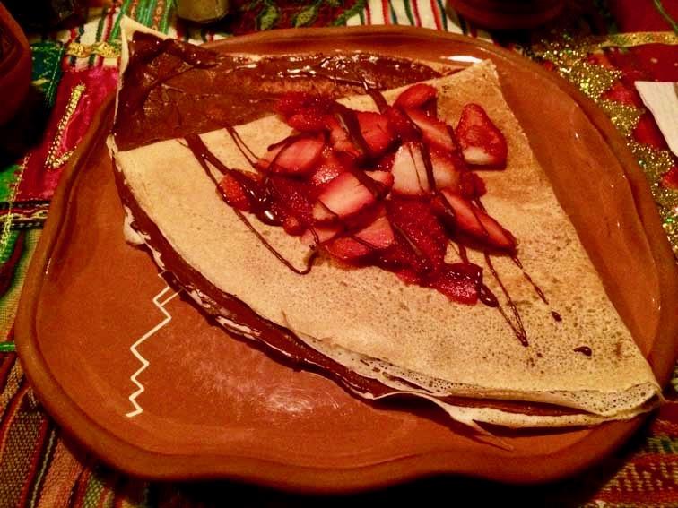 Crepe aux fraises Cusco Perou