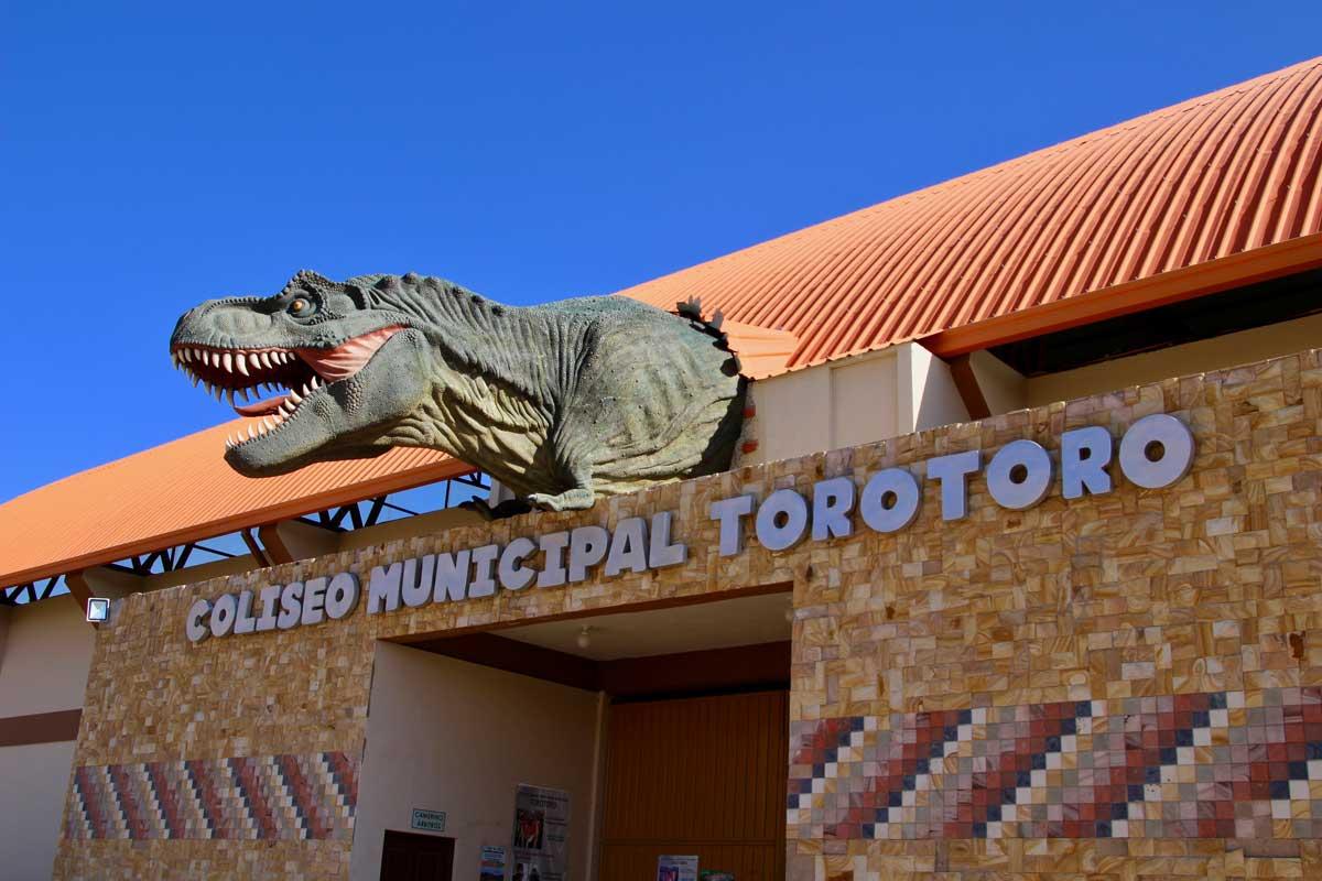 Dinosaure colisee Toro Toro Bolivie