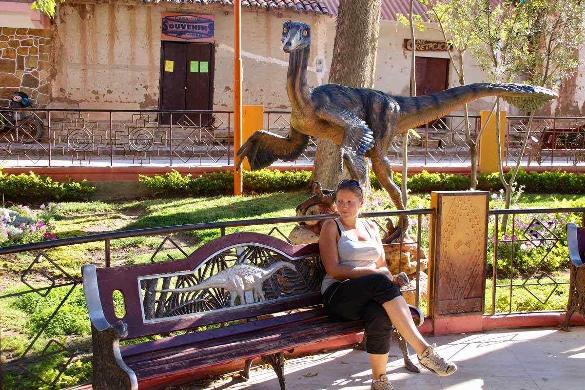 Elo dinosaure Toro Toro Bolivie