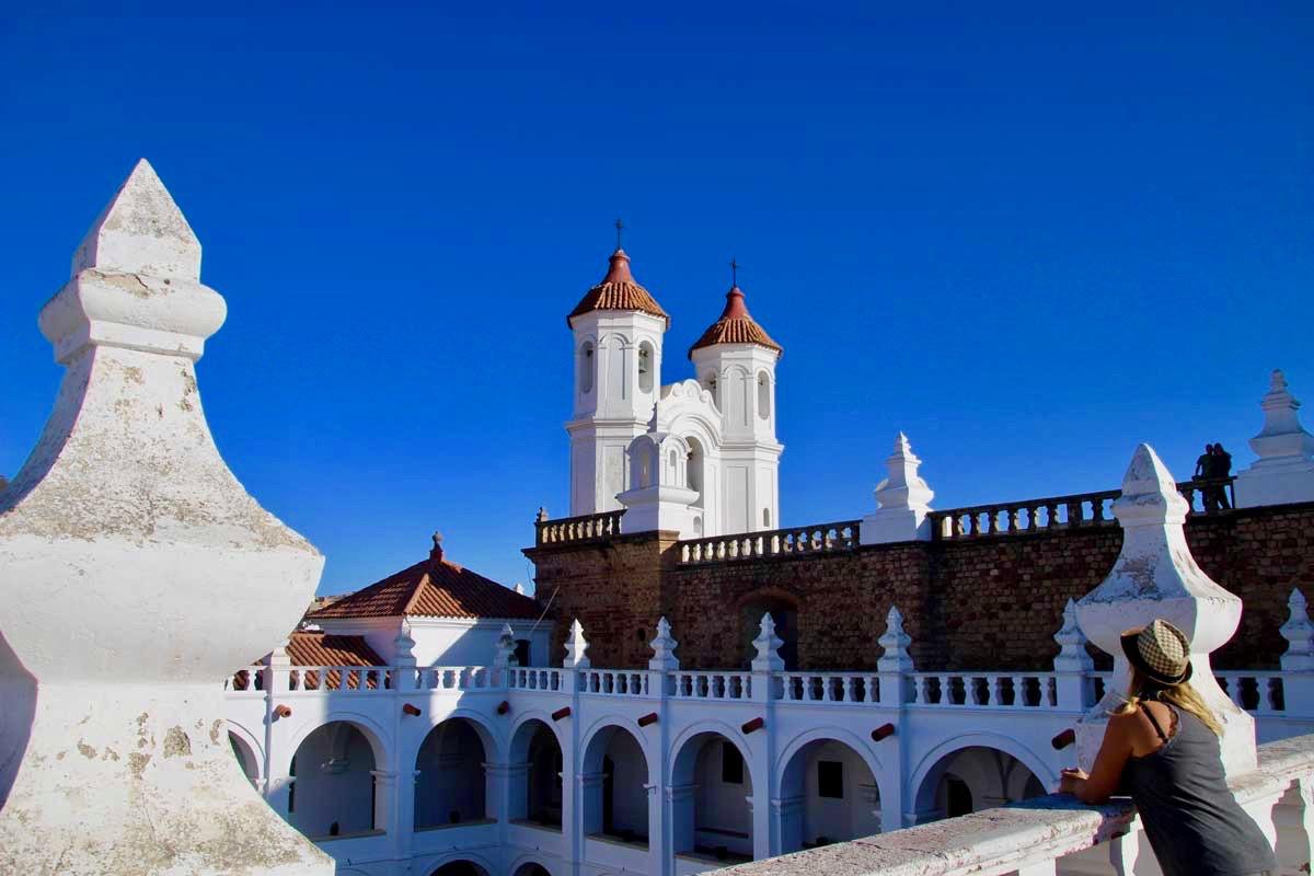 Elo toit couvent Sucre Bolivie