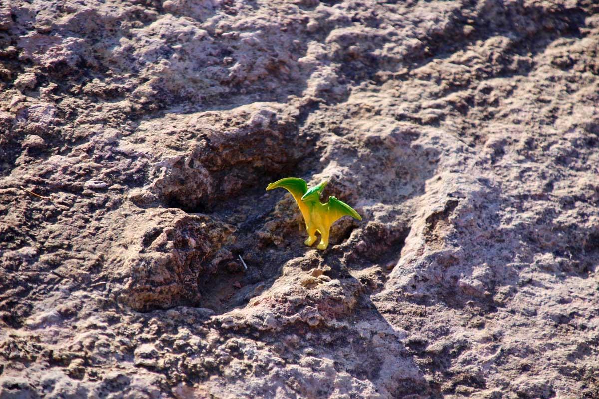 Representation dinosaure Toro Toro Bolivie