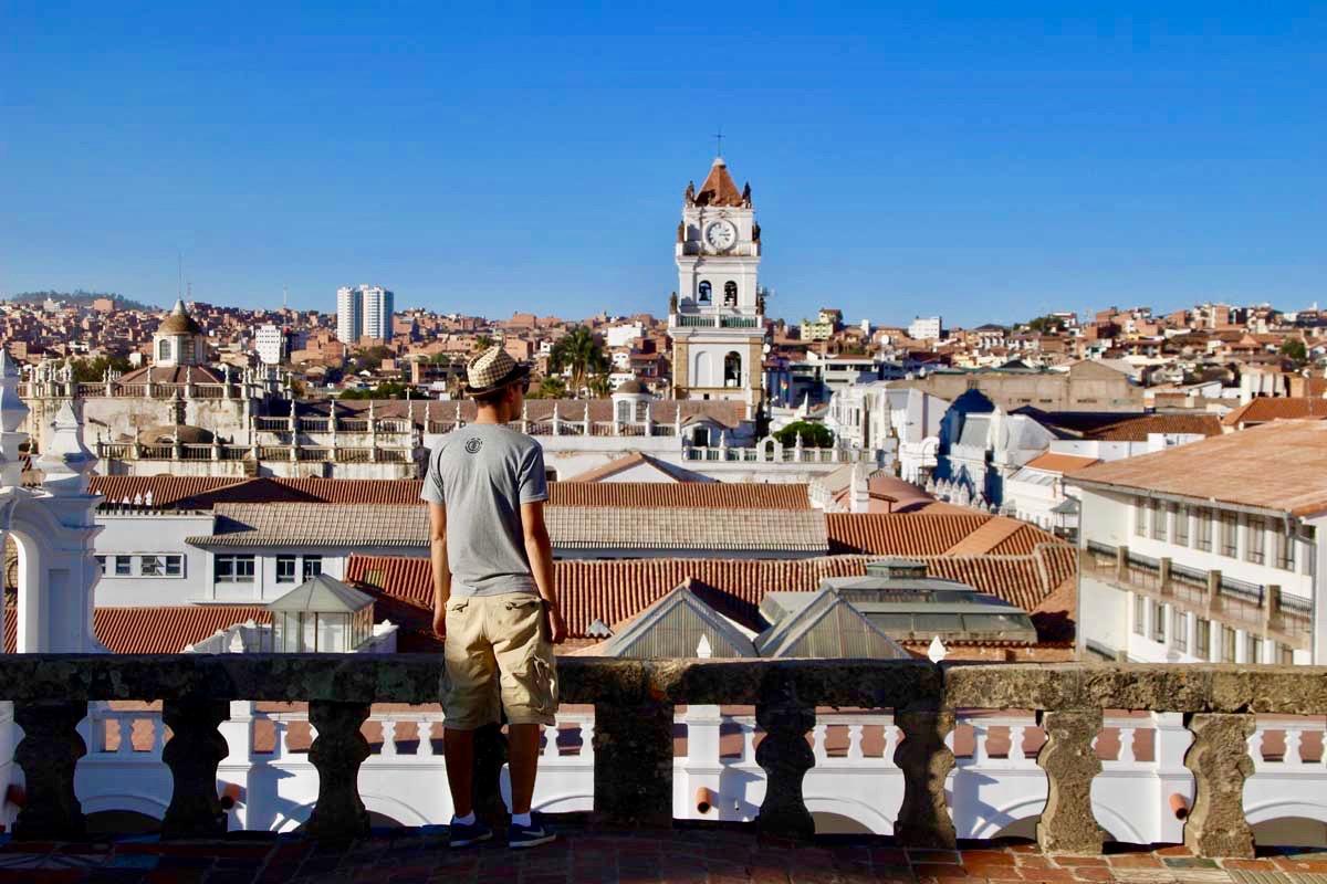 Tom vue sur les toits Sucre Bolivie