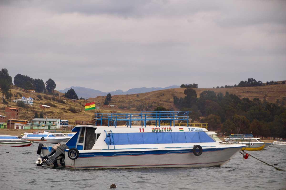 bateau Isla del sol lac titicaca bolivie
