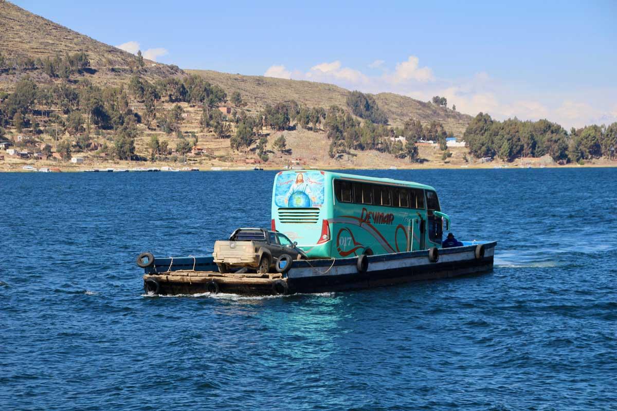 bus Isla del sol lac titicaca bolivie