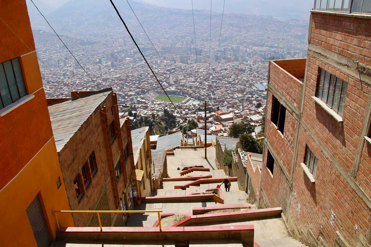 escaliers la paz bolivie
