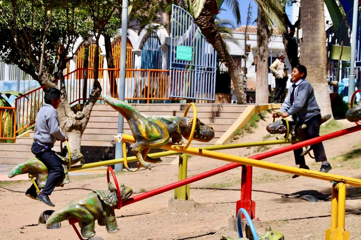jeux dinosaures Sucre Bolivie