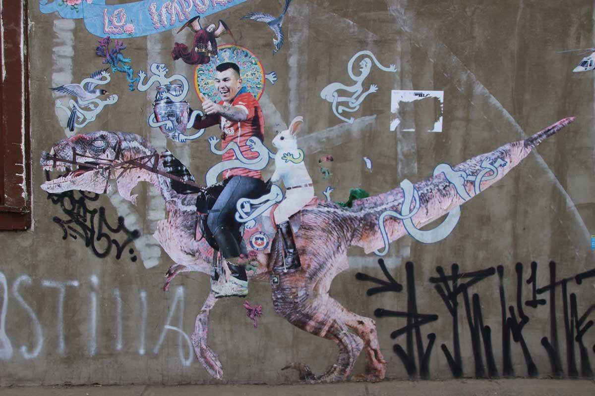 street art Bellavista santiago chili