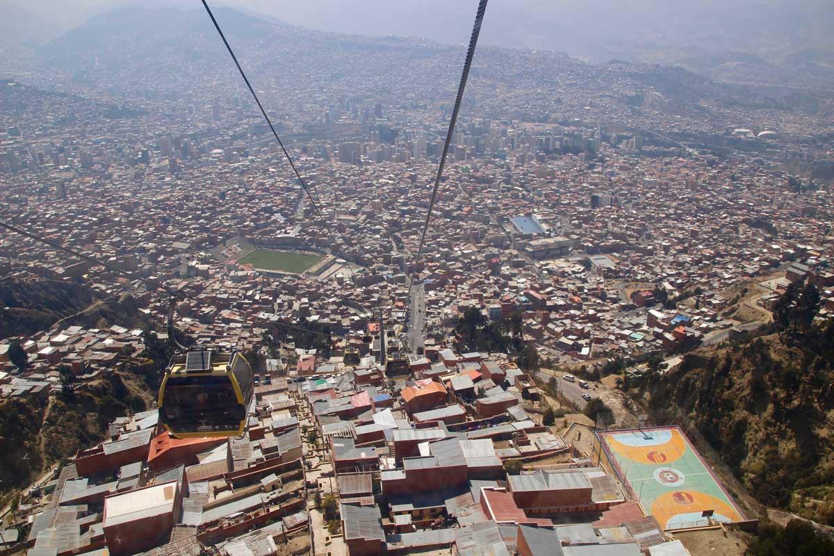 telepherique la paz bolivie