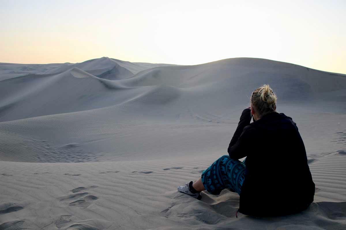 Elo couche de soleil dune