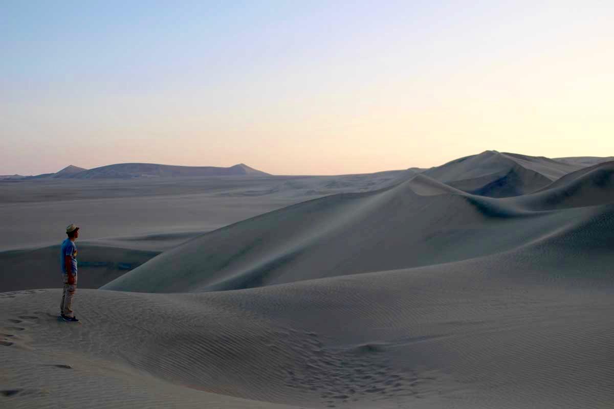 Tom coucher de soleil dune