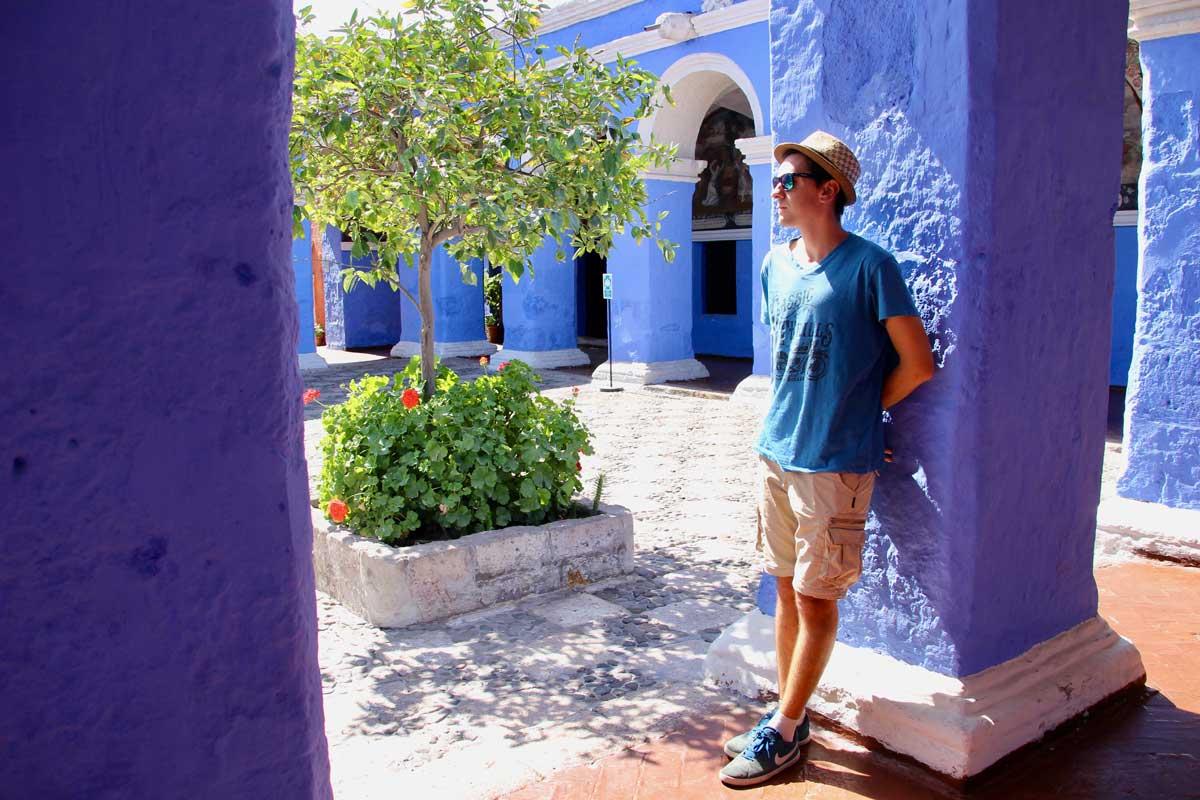 Tom patio bleu Couvent Santa Catalina Arequipa