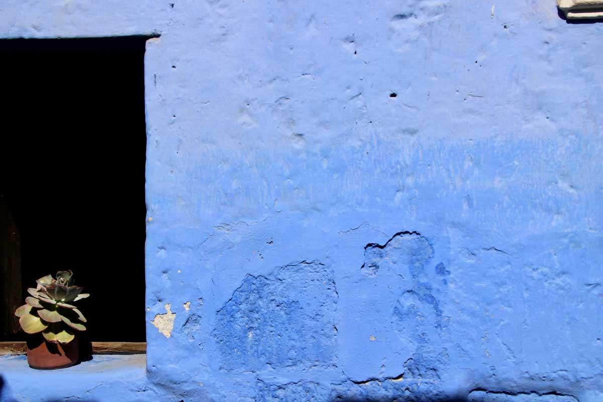 mur bleu Couvent Santa Catalina Arequipa