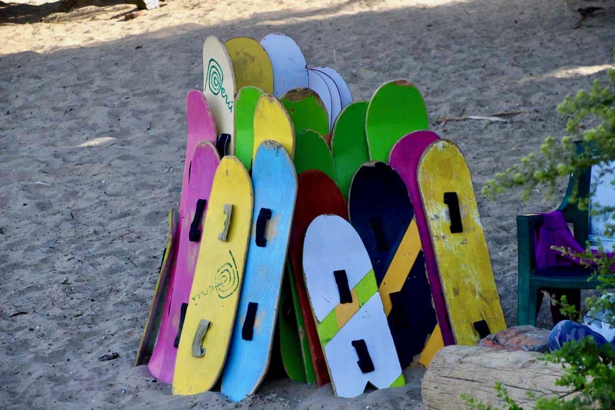 planches sandboard Oasis Huacachina Perou