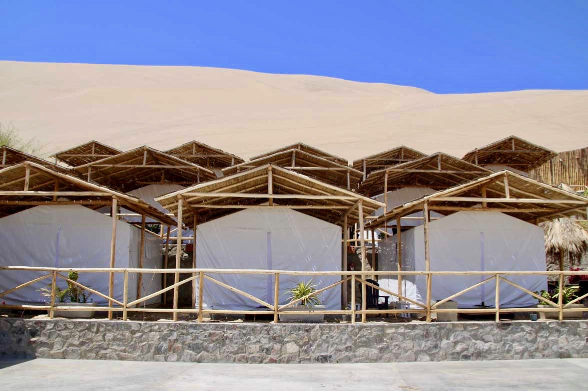 tentes eco camp Oasis Huacachina Perou