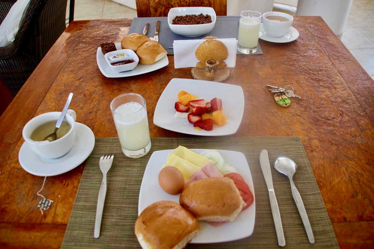 Petit dejeuner Casa Mediterranea Mancora