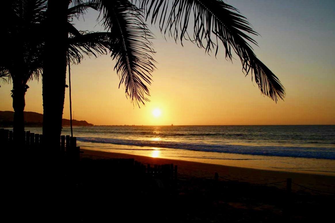 coucher de soleil Casa Mediterranea Mancora