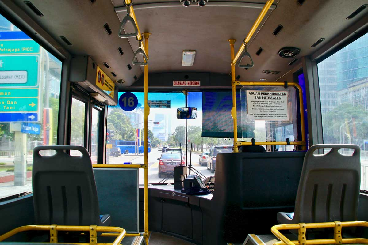 bus pour visiter Putrajaya