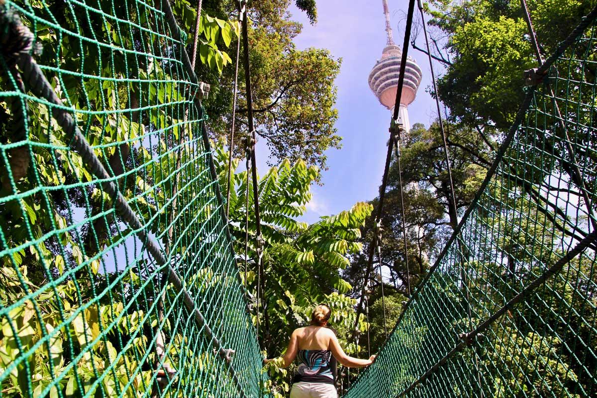 passerelle Forest Eco Park Kuala Lumpur malaisie