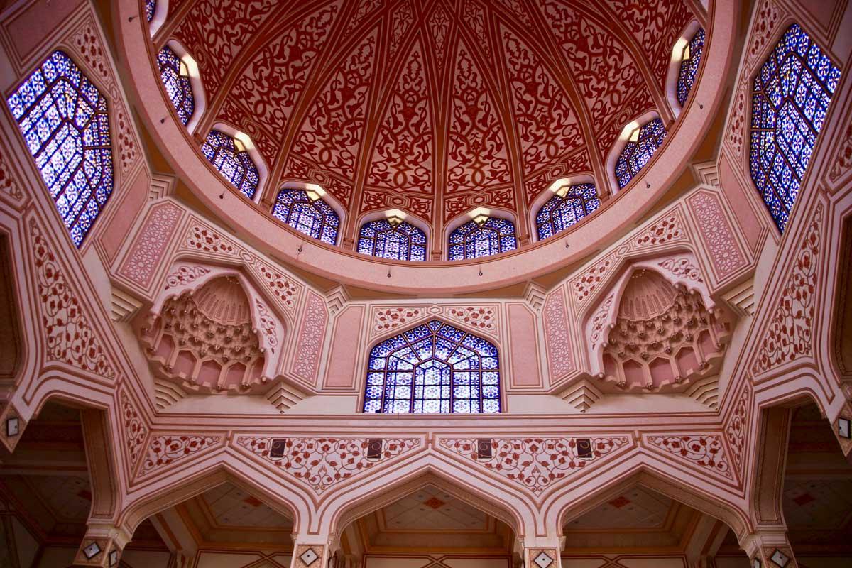 Masjid Putra Mosquée rose à Putrajaya