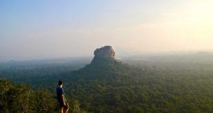 coucher soleil rocher lion sigiriya Pidurangala sri lanka