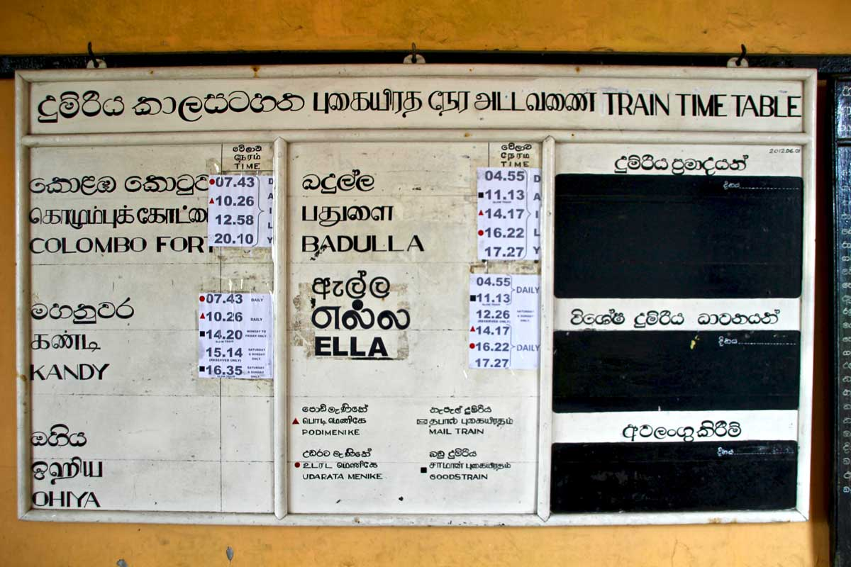 horaires train haputale sri lanka