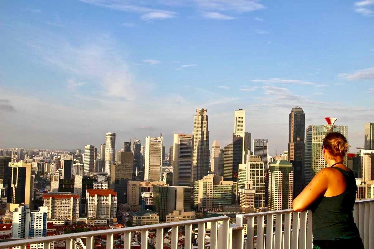 Elo coucher de soleil pinnacle Condo Singapour