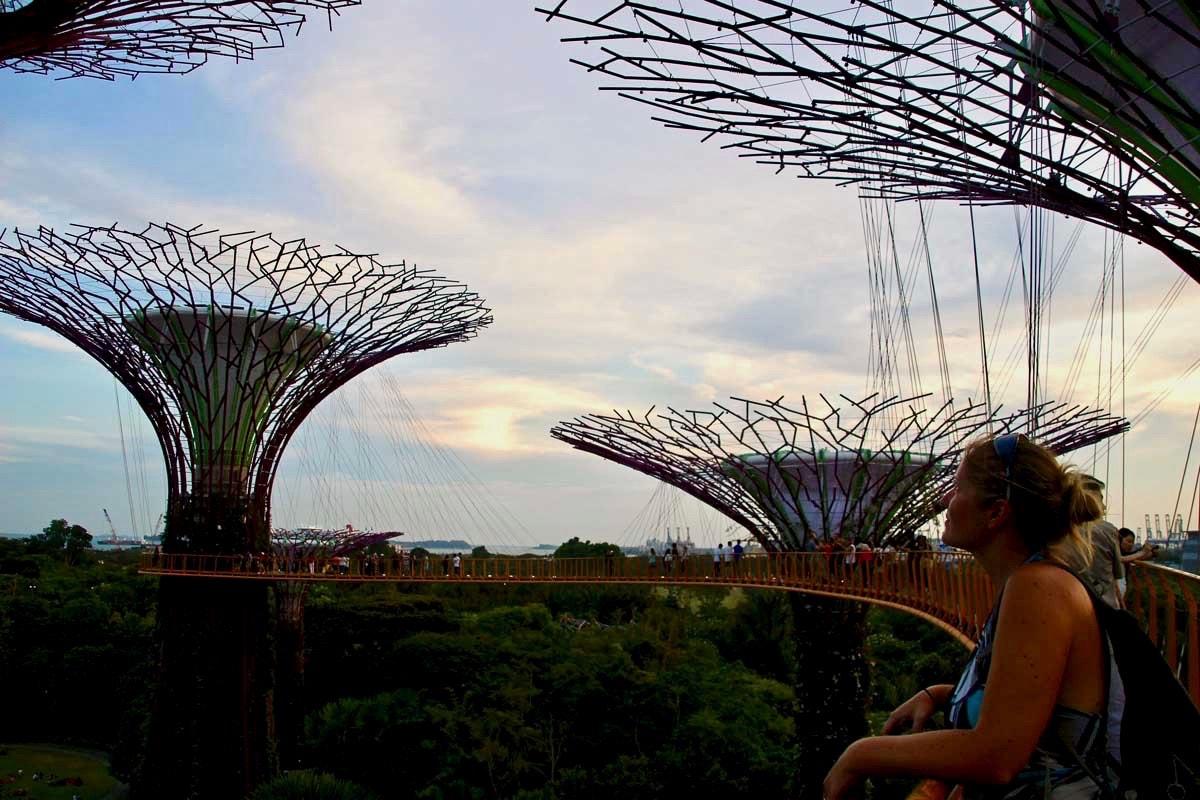 Elo passerelle SkyWay Singapour