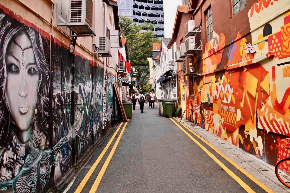 Haji Lane street art Singapour