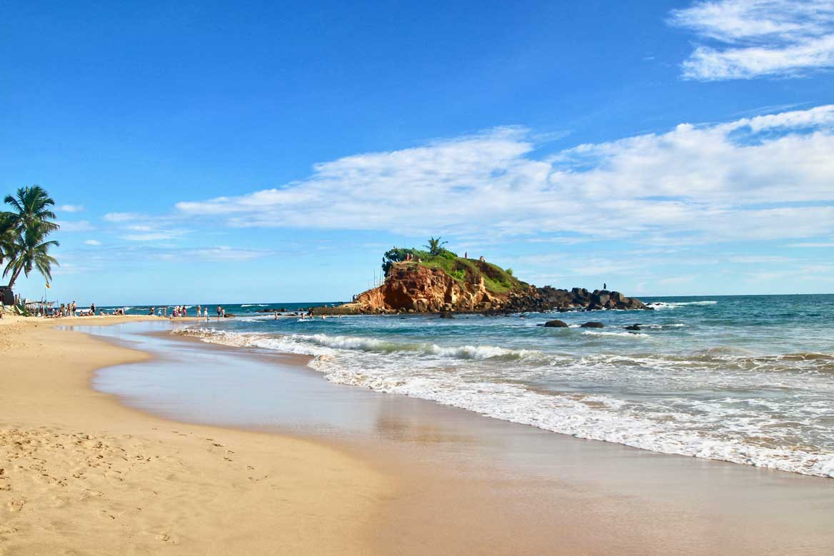 Rocher du perroquet plage Mirissa Sri Lanka