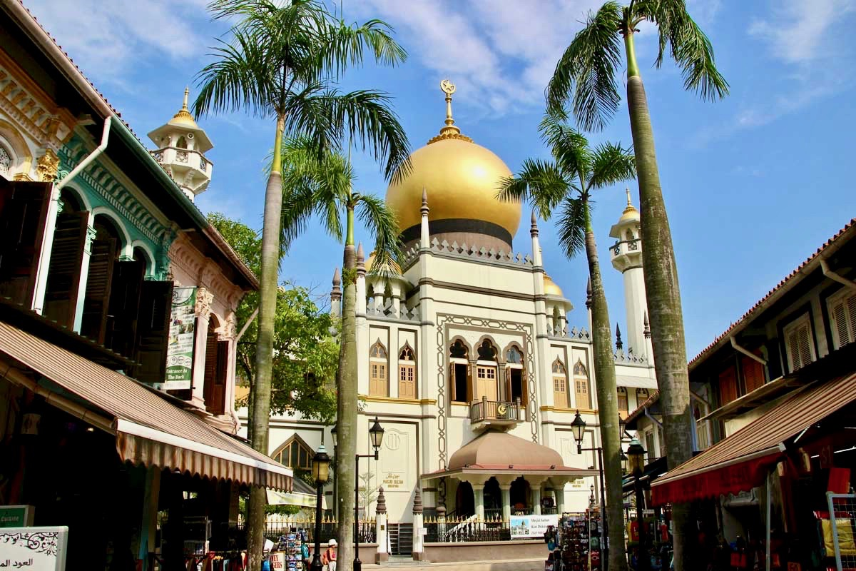 Rue et mosquee singapour