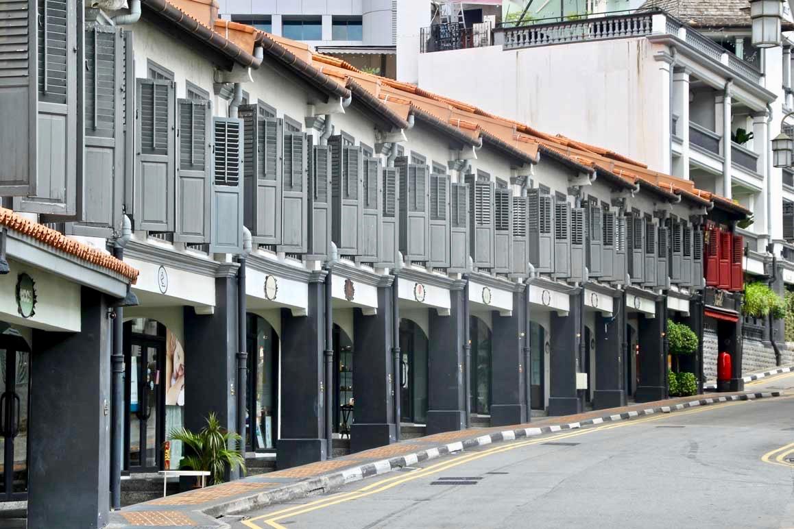 Shophouses sur Erskine Road Singapour