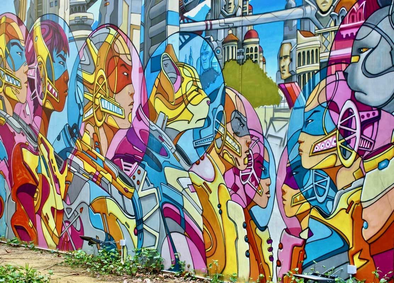 Street art Kampong glam Singapour