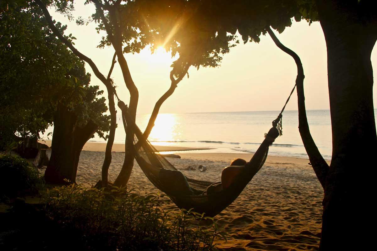 coucher soleil plage tekek tioman malaisie