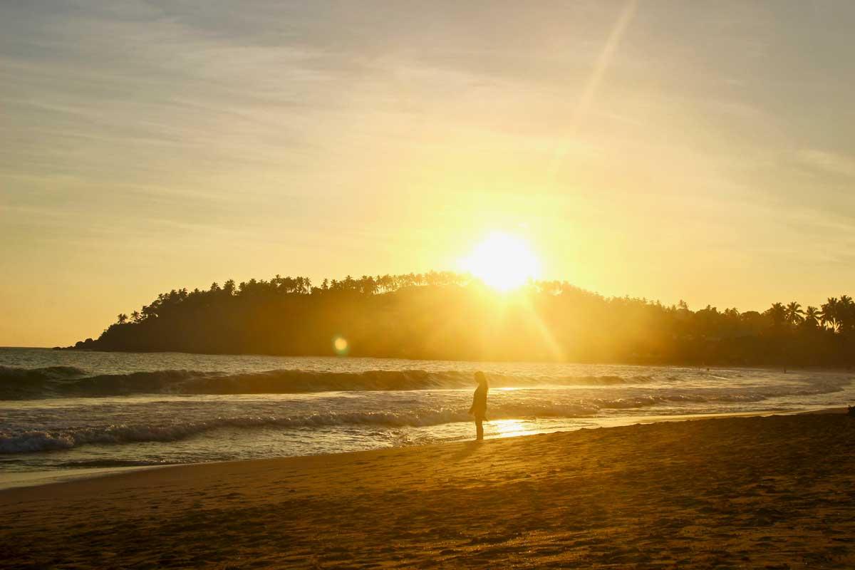 fin de journee plage Mirissa Sri Lanka