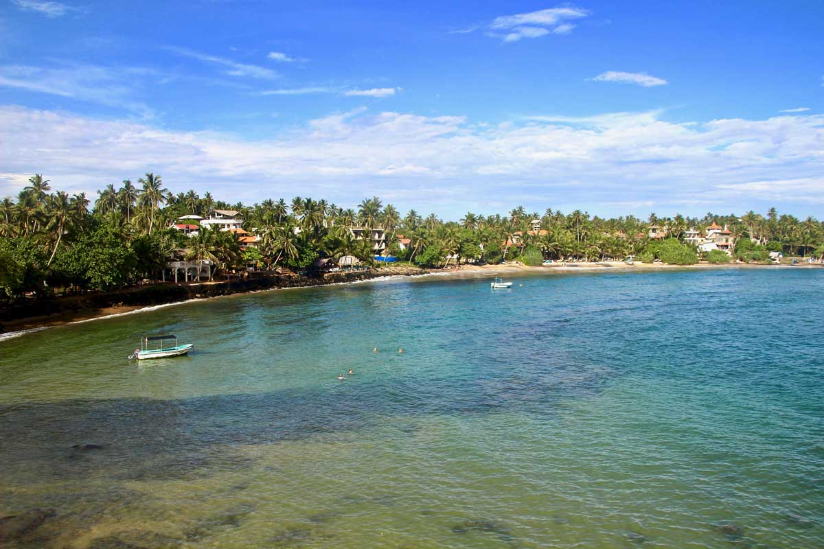 plage Mirissa Sri Lanka vue