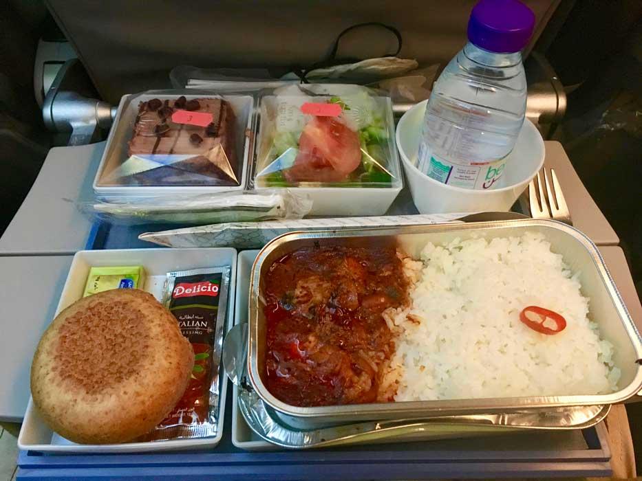 plateau repas saudia airlines