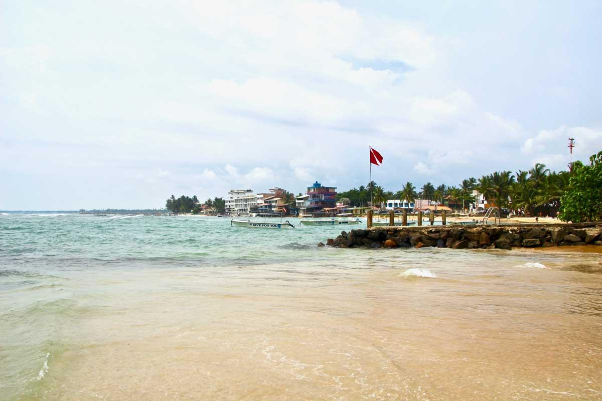 vue plage Hikaduwa Sri Lanka