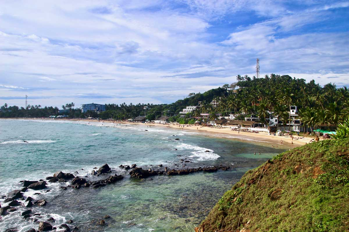 vue plage Mirissa Sri Lanka
