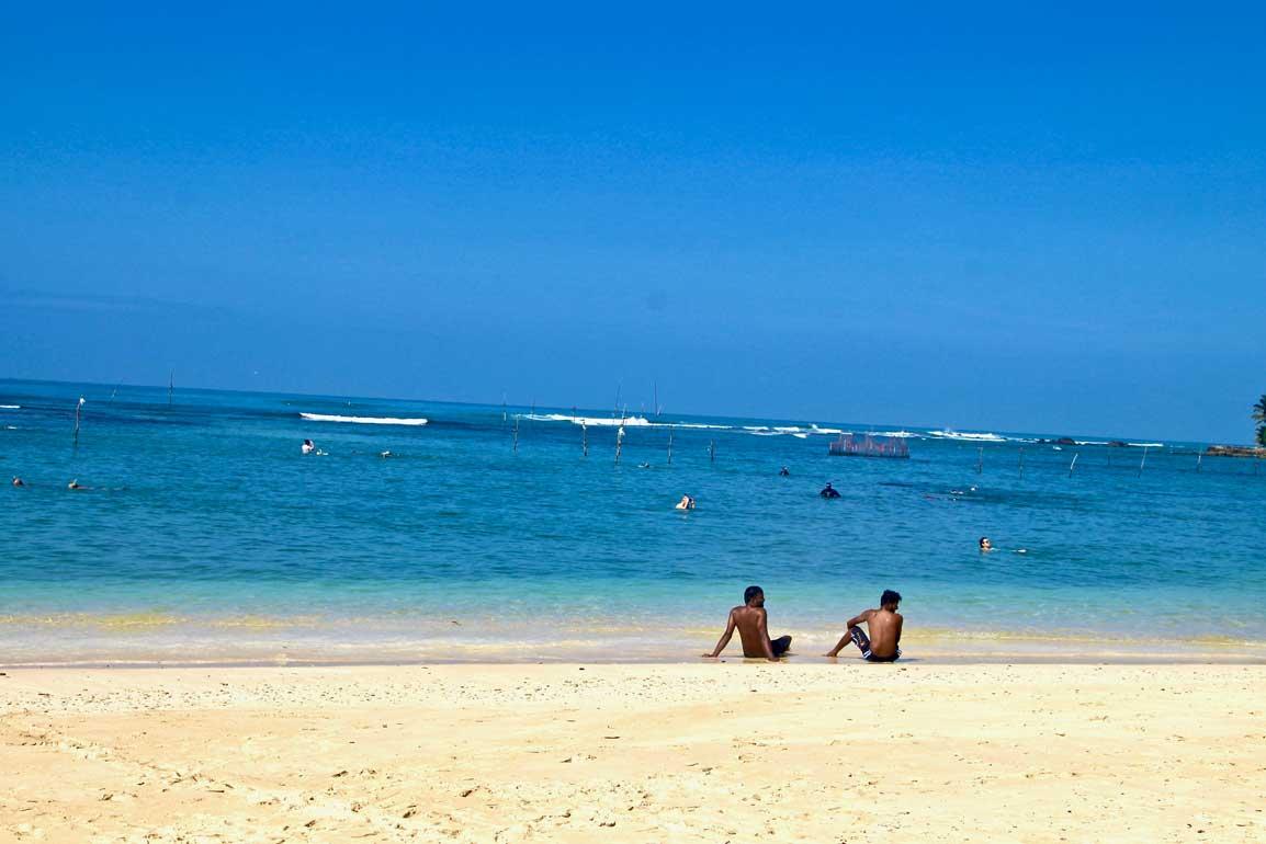 vue plage polhena Sri Lanka