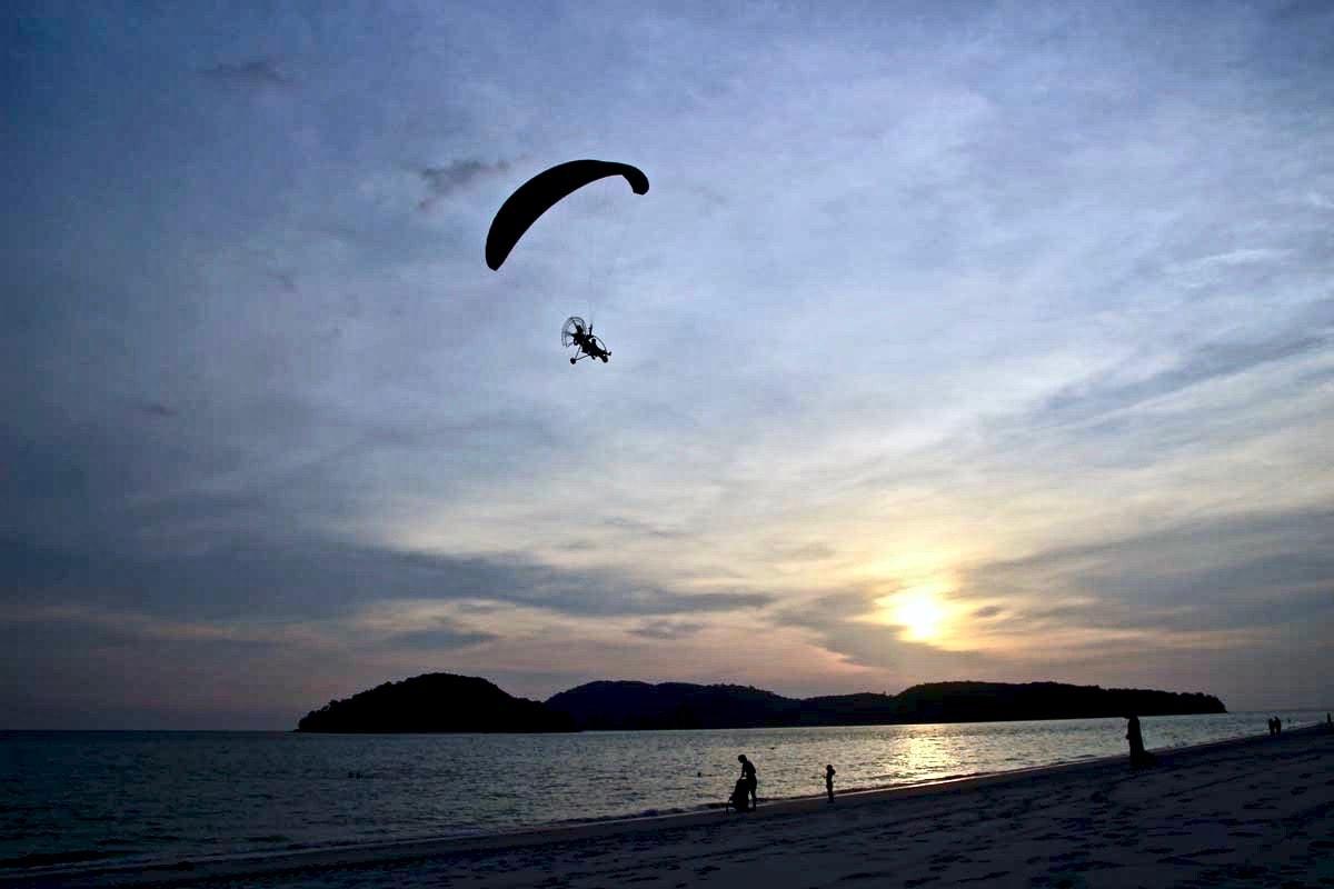 Coucher de soleil plage Langkawi
