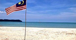 Drapeau Malaisie Pantaï Cenang plage Langkawi