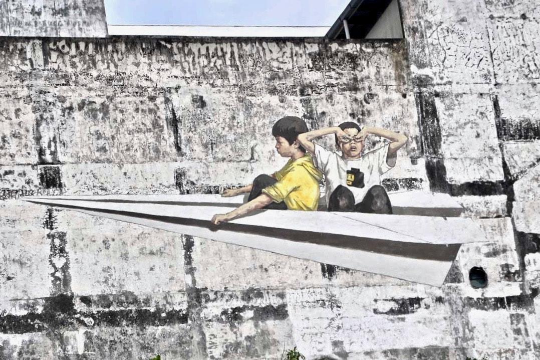 Paperplane Street Art Ipoh