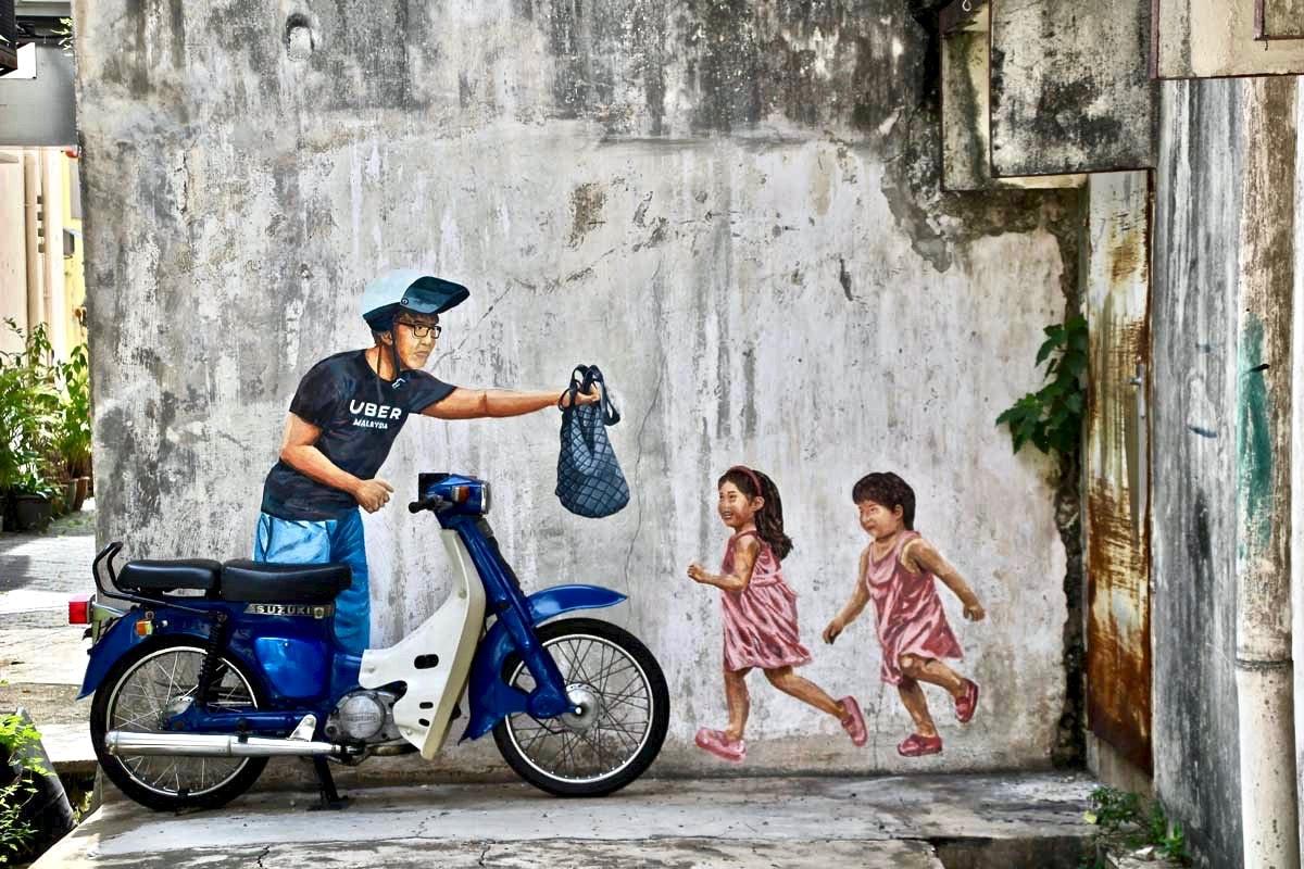 Street Art Ipoh 3D moto
