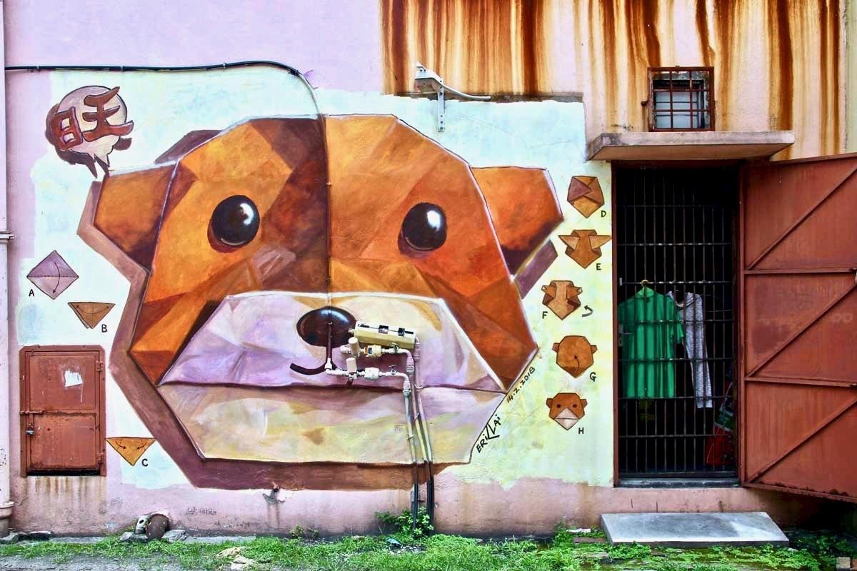 Street Art Ipoh nounours