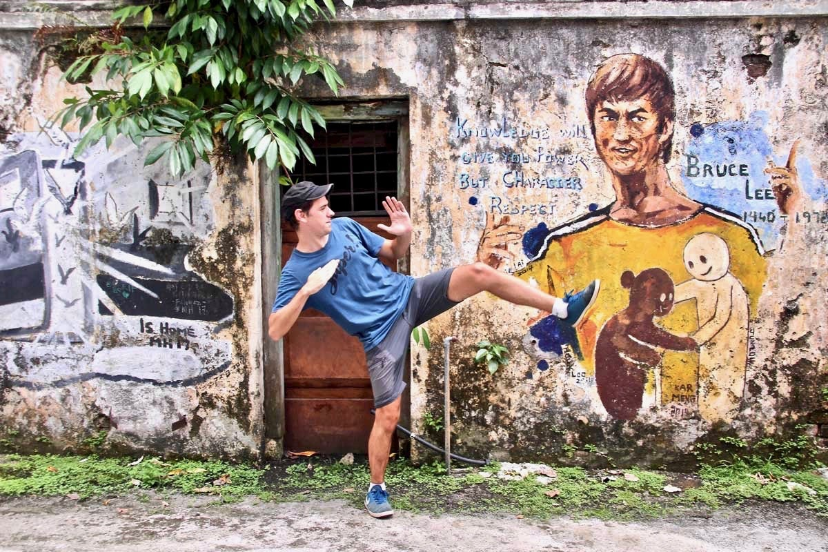 Tom Street Art Ipoh Bruce Lee