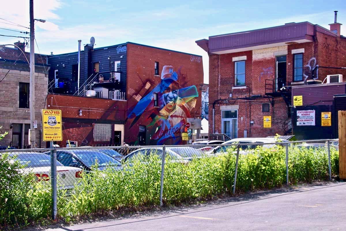 Street Art quartier Saint Laurent Montréal