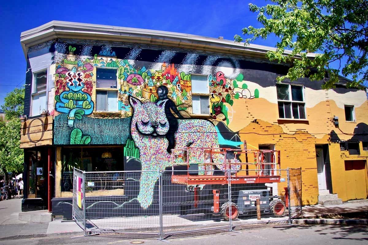 Street art urbain Montréal