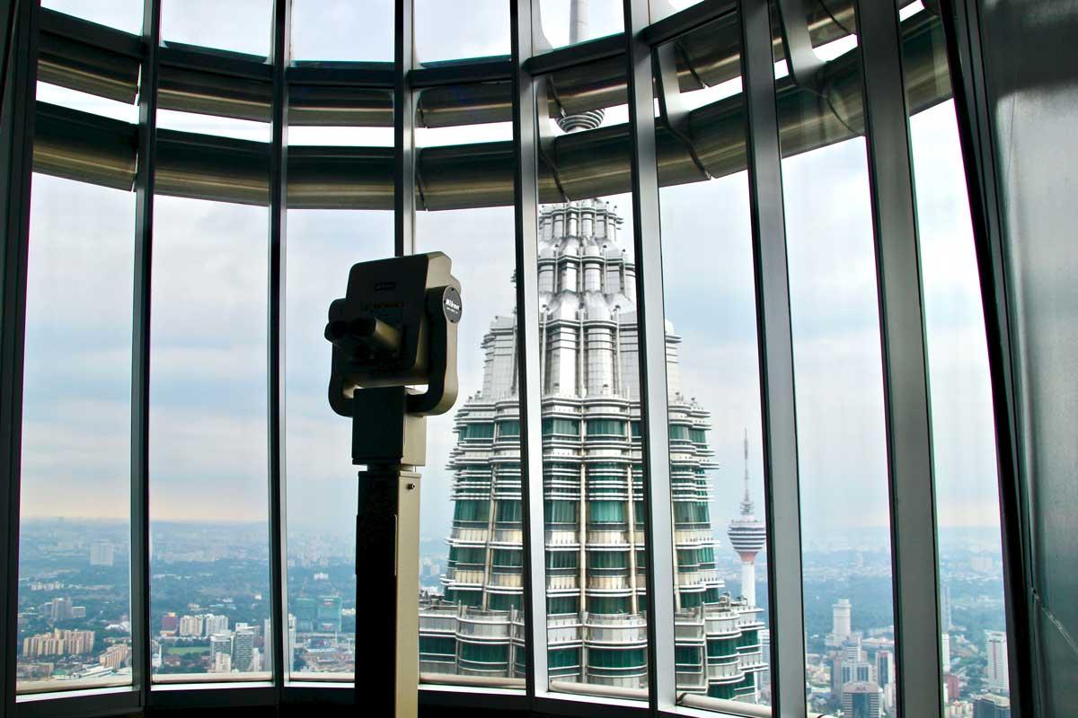 Vue observatoire Tours Petronas Kuala Lumpur