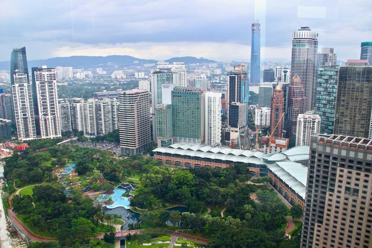 parc KLCC depuis les Tours Petronas Kuala Lumpur